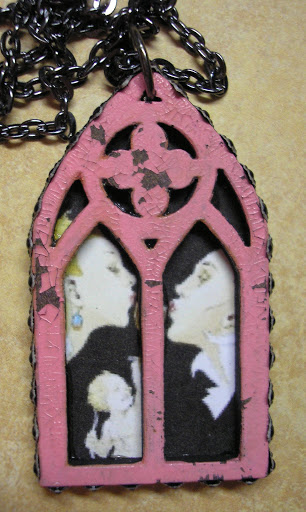 Gothic arches become primitive art charms